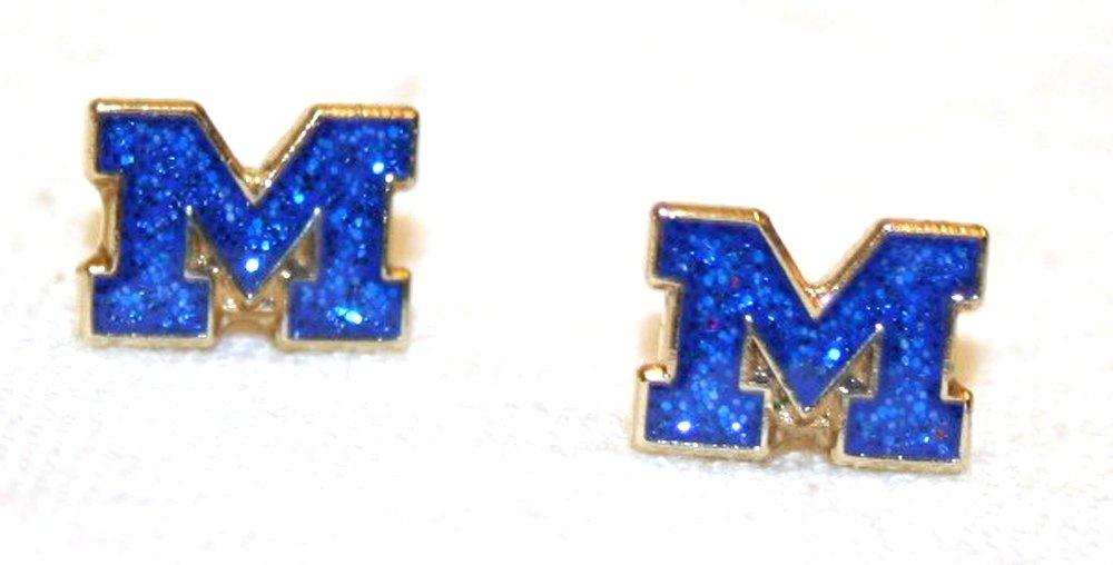 NCAA Michigan Wolverines Team Logo Post Earrings