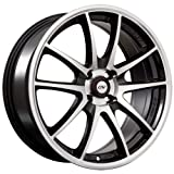 DAI Alloys Emotion Wheels (Painted/Gloss Black Machined Face), 17*7, 4/100, ET 42mm