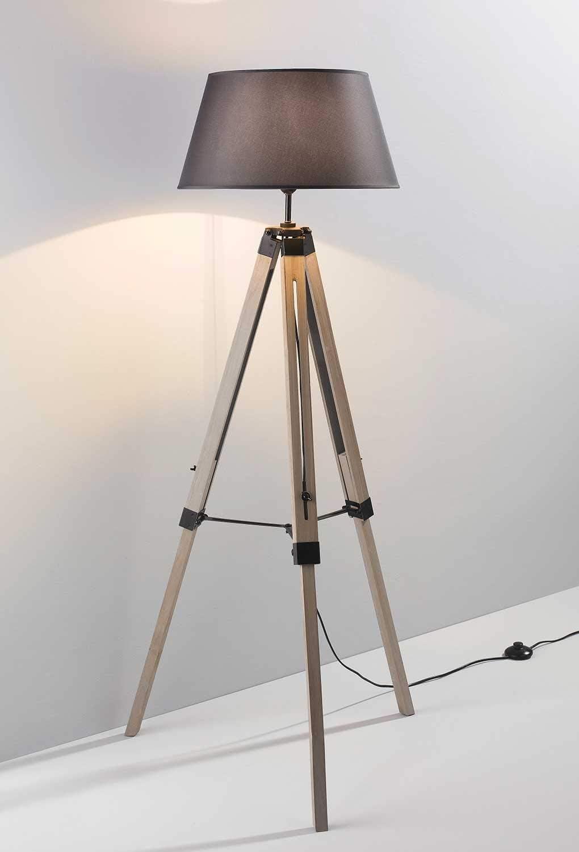 Dreibein Stehlampe Stehleuchte Standleuchte 145 Cm Hoch Holz