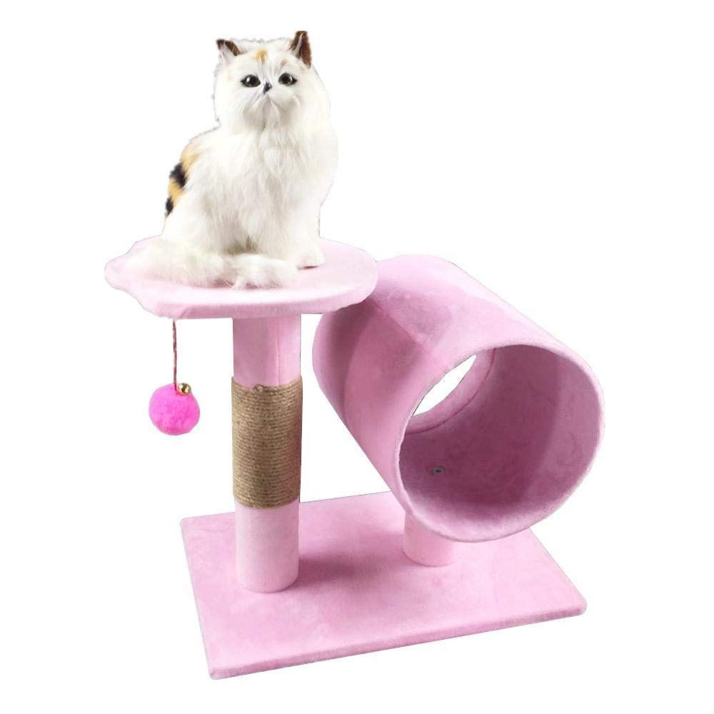 A Deluxe Multi Cat Tower cat Trees Towers Pet cat Toy Furniture Grab Board Nest House Grab Column cat cage Four color Optional 39  26  38cm (color   A)