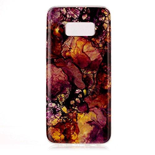 inShang funda para Samsung Galaxy S8 funda del teléfono móvil, anti deslizamiento, ultra delgado y ligero, Estuche, Cubierta, carcasa suave hecho en el material de la TPU, cómodo Case Cover for Galaxy Gold