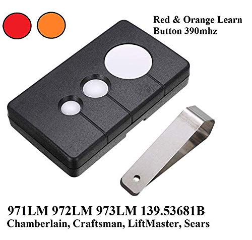 Garage Door Remote Opener Remotes HBW1255 139.53681B 390MHz Three Button Remote Control Transmitter Fit for Sears Craftsman Chamberlain LiftMaster 971LM 972LM 973LM 970LM Transmitter 3 Button Security