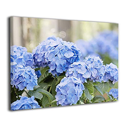 """IMAGESPACE ART Wall Art Painting Spring Blue Hydrangeas Prints On Canvas Ready to Hang for Home Modern Decoration Print Decor for Living Room 16""""x20"""""""