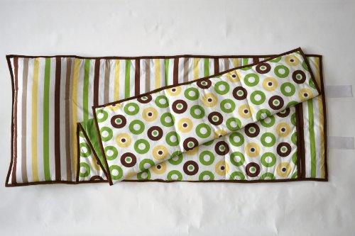 (Mod Dots/Stripes Green/yellow/choco Nap Mat)