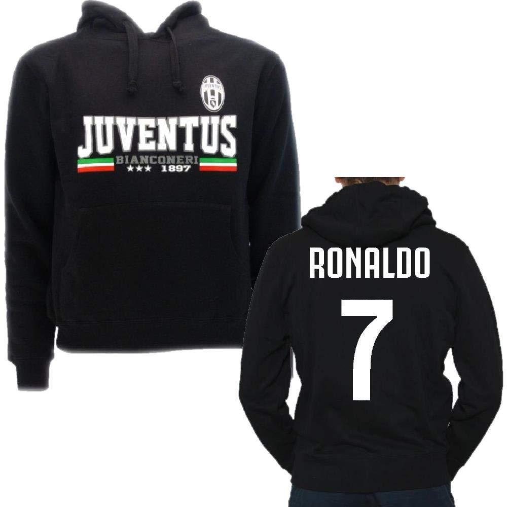 Juventus Männer Kapuzen-Sweatshirt PS 24816 Ronaldo 7 Juve Offizielle Kleidung