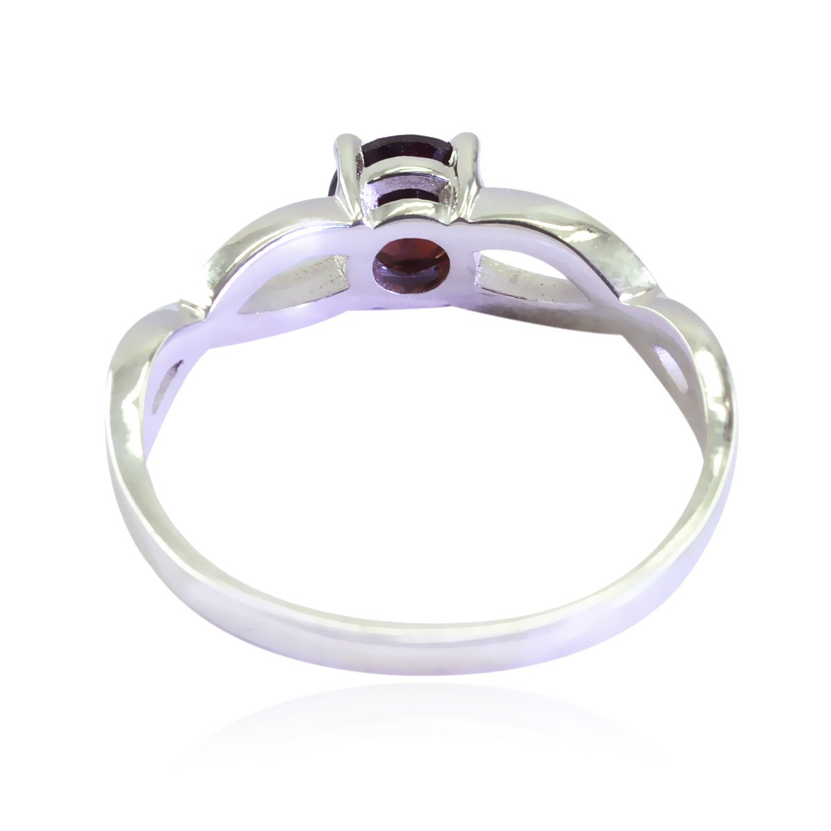 Lucky Gemstone Round Faceted Garnet Ring fine Jewellery Shops Gift for Mothers Day Initial Ring Sterling Silver Red Garnet Lucky Gemstone Ring