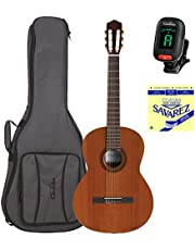 Cordoba C5 Nylon String Classical Guitar with Deluxe Cordoba Gig Bag, Savarez 500CJ String Set, and Clip-on Tuner