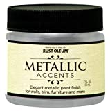 Rust-Oleum Metallic Accents 255269 Decorative 2-Ounce Trail Size Water Based One Part Metallic Finish Paint, Sterling Silver