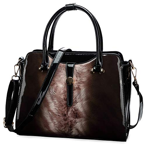 Womens Patent Leather Satchel Handbags ()