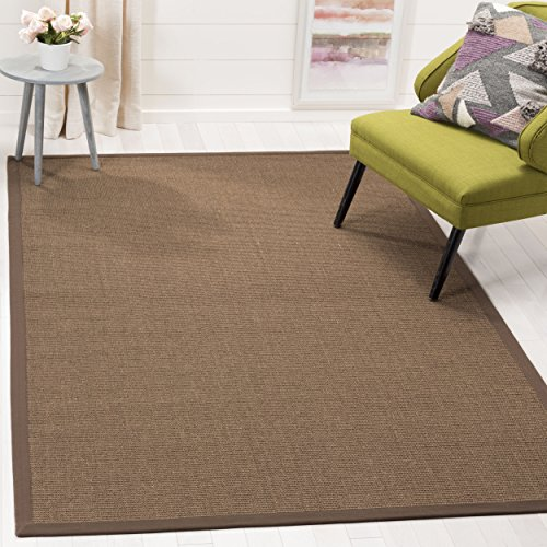 Safavieh Natural Fiber Collection NF441C Hand Woven Brown Sisal Area Rug (6' x (Natural Fiber Carpet)