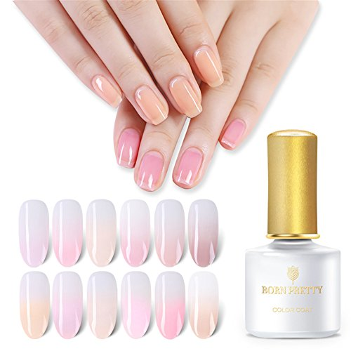 BORN PRETTY Gel Nail Polish Pink Nude Yellow Purple 12 Color