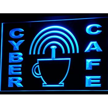 Internet Cafe Neon Sign - Picture Lights - Amazon com