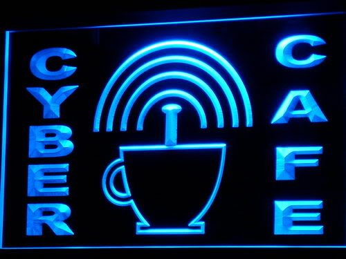 Cyber Cafe Internet access Wi-Fi LED Sign Neon Light Sign Display i332-b(c)