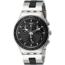 Swatch Men's YCS410GX Windfall Chronograph Silver-Tone Bracelet Watch