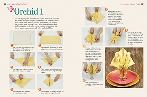 top 100 stepbystep napkin folds more than 1000