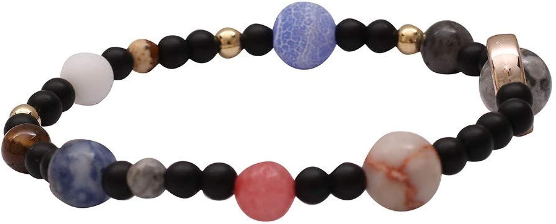 OPAKY Hombres Mujeres Piedra Natural Vía Láctea Beads Yoga ...