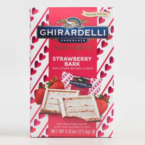 - LIMITED TIME Ghirardelli Strawberry Chocolate Bark Squares, 0.83 Oz. (1 Per Order)