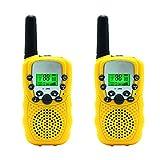 Toys : Kids Walkie Talkie Two Ways Radio Toy T-388 Walkie Talkie for Kids 2 Miles Range 3 Channels FRS GMRS Handheld Mini Walkie Talkies for Outdoor Adventures Camping Hiking Set of 2 (Yellow)