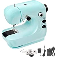 PDJW Mini Electric Sewing Machine with Double Thread and Free Arm