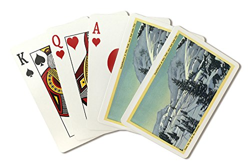 Alta, Utah - Aerial View of a Snowy Amphitheatre, Skiers Skiing (Playing Card Deck - 52 Card Poker Size with Jokers) (Aerial America Utah compare prices)