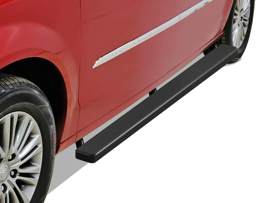 APS iBoard Running Boards Nerf Bars Side Steps Step Rails Compatible with 2011-2020 Dodge Grand Caravan /& 2011-2016 Chrysler Town Country Black Powder Coated 6 inches