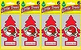 auto aroma - Little Trees Cinnamon Apple Air Freshener, (Pack of 24)