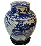 white and blue ginger jar 18 - Chinese 9