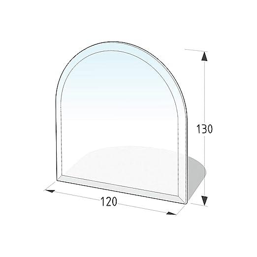 Lienbacher® - 21.02.886.2 - Funkenschutzplatte für Kaminofen - Glasplatte 8 mm (Zunge 4) - mit Facette, klar