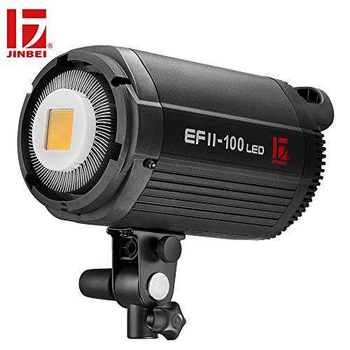 JINBEI EFII-100W 100Ws Dimmable LED Video Light Continuous Lamp with Bowens Mount Daylight Balanced Video Light 5500K for YouTube Vine Portrait Photography Video Lighting Studio Interview from JINBEI