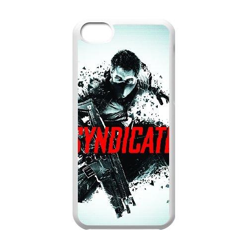 Syndicate 3 coque iPhone 5c cellulaire cas coque de téléphone cas blanche couverture de téléphone portable EEECBCAAN08840