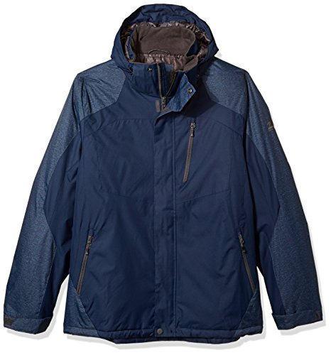 ZeroXposur Men's Big Big & Tall Beacon Insulated Grid Dobby Mid-Weight Jacket, Midnight, X-Large - Beacon Jacket Insulated