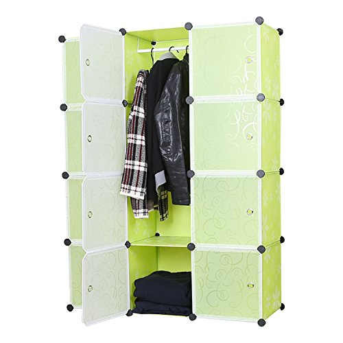 Unicoo - Multi Use DIY 12 Cube Organizer, Bookcase, Storage