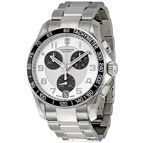 Victorinox Swiss Army Chrono Classic Silver Dial Mens Watch 241495