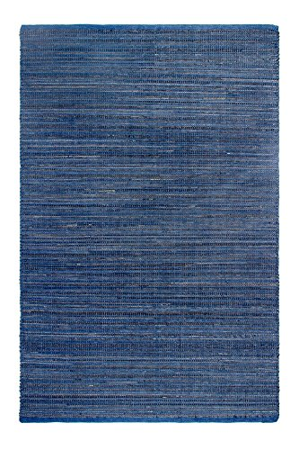 Fab Habitat Indoor/Outdoor Rug | Reclaimed Rubber from Tires & Polypropylene| Kismet - Indigo, 3' x 5' (Certify Your Dog As A Service Dog)