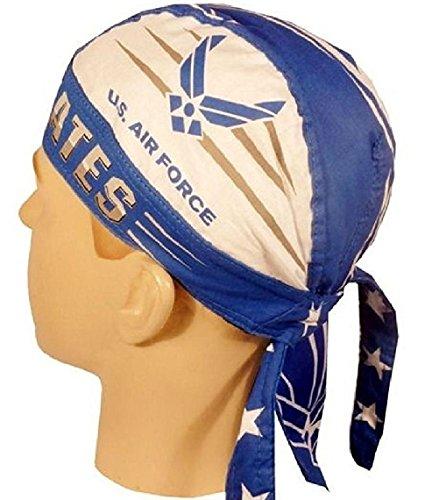 USAF USA Air Force Doo Rag Headwrap Skull Cap Military Durag (Military Headwraps)