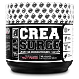 CREASURGE Creatine Powder w/ElevATP - Premium Muscle Builder & Pre Workout Strength Supplement | Boost ATP, Strength and Power, Endurance, Athletic Performance - 30 Servings, Fruit Punch Flavor