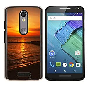 "Be-Star Único Patrón Plástico Duro Fundas Cover Cubre Hard Case Cover Para Motorola Droid Turbo 2 / Moto X Force ( Hermosas Australia Sunset Rocks"" )"