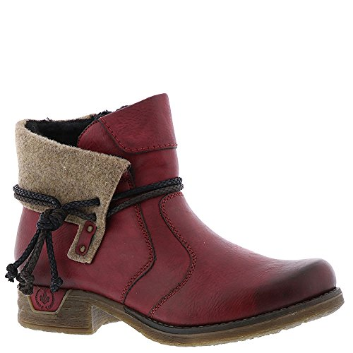 Boot Red Rieker Women's Fee 93 qyaXt