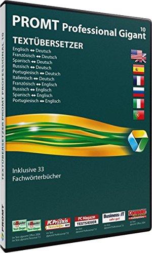 PROMT Professional 10 Gigant: Übersetzungssoftware für alle anspruchsvollen Anwender, die viel mit fremdsprachigen Dokumenten zu tun haben
