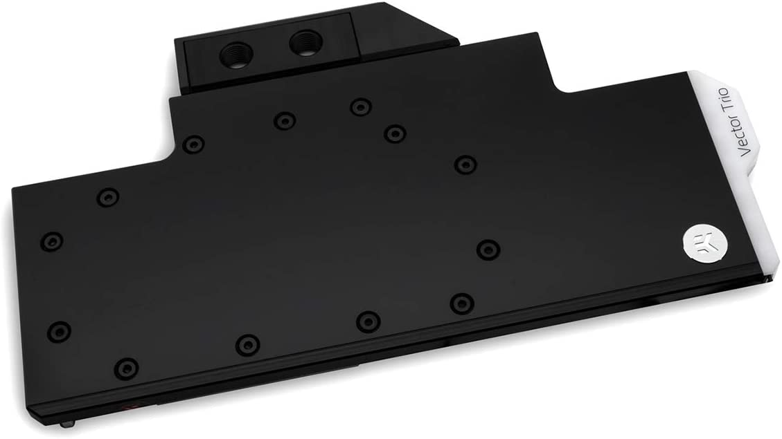 EKWB EK-Vector Trio RTX 2080 Ti RGB GPU Waterblock, Nickel/Acetal