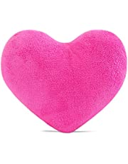 RIHUD Cute Plush Red Heart Pillow Cushion Toy Throw Pillows Gift for Kids' Friends/Children/Girl/Valentine's Day Fit for Living Room/Bed Room/Dining Room/Office and Sofa/Cars/Chairs