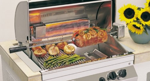 Firemagic by Peterson FM3606S Firemagic Super Heavy Duty Rotisserie Kit for E66 A66 and A54 Grills- Grill Accessory