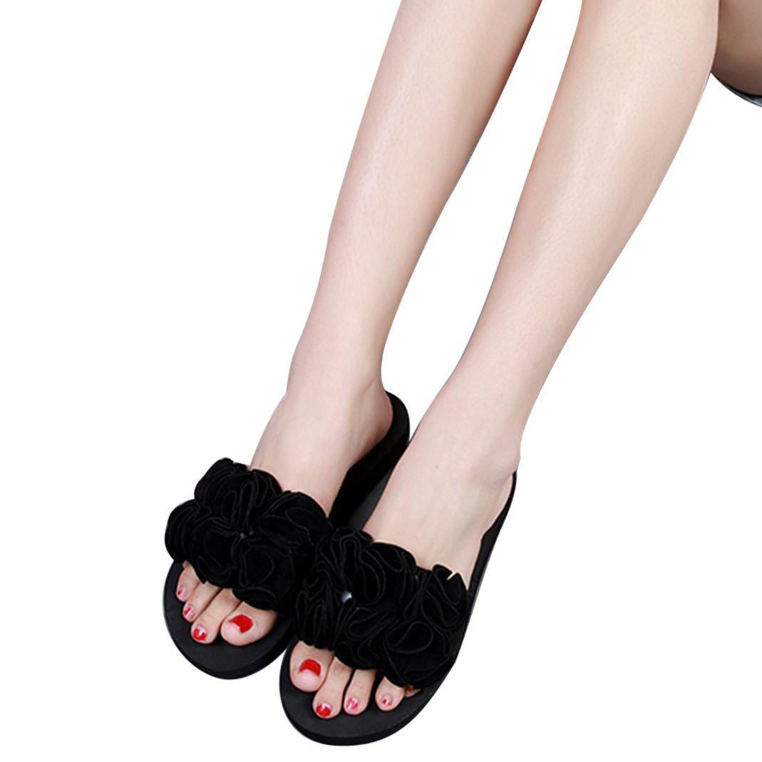 afe55f1e ZARLLE Sandalias De Mujer Zapatos Planos De Mujer Verano Suave Cuero Ocio  Bohemia La Mujer Flor Verano Sandalias Zapatilla Indoor Sandalias Casuales  Zapatos ...