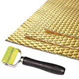 BOWSEN 80 mil 36sq.ft Sound Deadening Mat Butyl Automotive Speaker Sound Deadener Mat Sound Insulation Car Deadening Kit Included 1pcs Roller