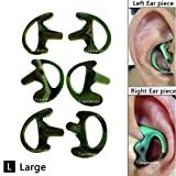 Universal Two Way Radio Replacement Ear mold Open Ear Insert Ear bud,Lsgoodcare 3 Pair Silicone Earbud Large (Left Right Ear) for Motorola Kenwood Acoustic Coil Tube Headset, Camouflage Soft Ear piece