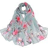 Lightweight Fall Scarfs for Women Hot Sale,deatu Clearance Ladies Peach Blossom Printing Long Soft Wrap Scarf Shawl (D)