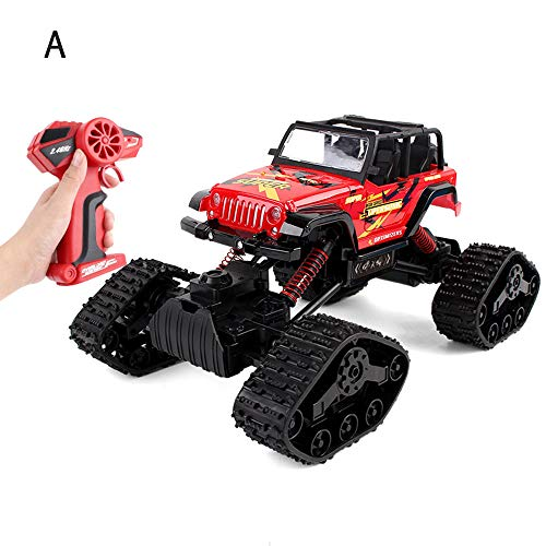 Mogicry Alloy Four-Wheel Drive 2.4GHz Toy Snow Track Remote Control Car Wireless Charging Collision Avoidance RC Car Multi Ground Large Boy Child Toy SUV Racing Car for Kids 3+ (Color ()