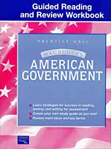 amazon com magruder s american government guided reading and review rh amazon com guided reading and review workbook american government answer key guided reading and review workbook american government