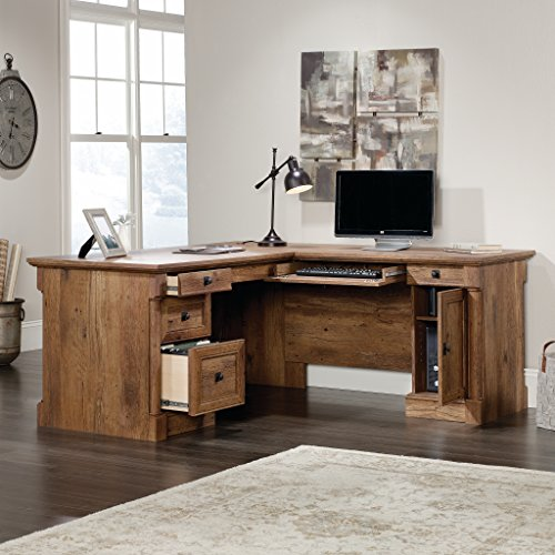 "Sauder 420606 Palladia L-Shaped Desk, L: 68.74"" x W: 65.12"