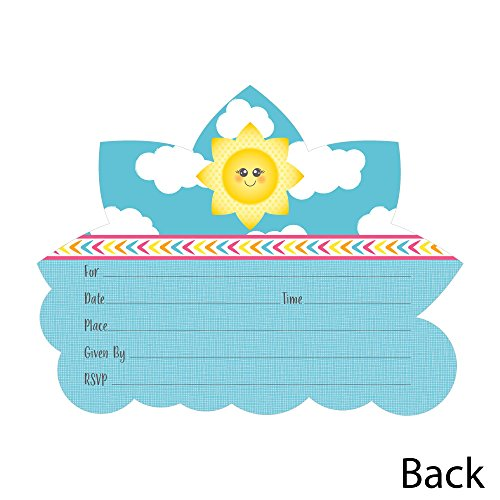 Our Little Sunshine First Birthday Party Invitations With Envelopes m/&h invites 20 Count Fill In Style